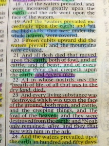 his is from my scriptures, notice that the words underlined in blue, red and green speak of the same thing.